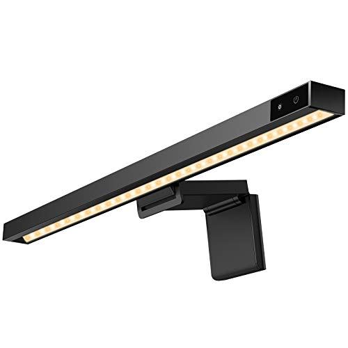 Lámpara Lectura LED Electrónica,45CM USB Lámpara de Monitor para Ordenador Portátil E-reading Lamp Computer Monitor Lámpara con 3 Modos Niveles de Brillo Ajustable Ahorra Espacio Cuidado de los Ojos