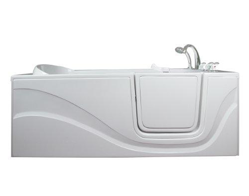 Lay Down Long Soaking Whirlpool Walk-In Tub Drain Location: Right
