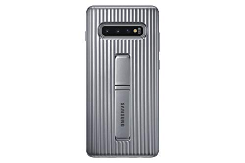 Samsung EF-RG975CSEGUS Galaxy S10+ Rugged Protective Case with Kickstand, Silver