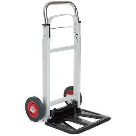 G-Rack Carro Manual Industrial de Aluminio Plegable con Neumáticos Antipinchazos - Capacidad de Carga de 100 kg