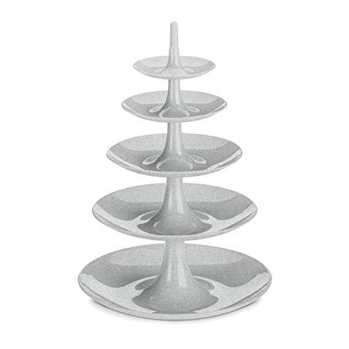 Koziol Etagere Babell Big, Servierschale, Servierturm, Ständer, Thermoplastischer Kunststoff, Organic Grey, 3185670