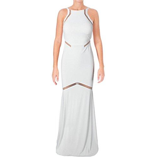 JVN by Jovani Womens Illusion Full-Length Formal Dress White 4