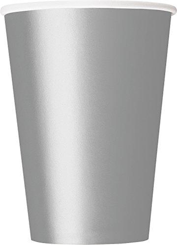 Unique Party - 33447 - Paquet de 10 Gobelets en Carton - 335 ml - Argent