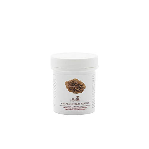 Hawlik Vitalpilze - Maitake Extrakt - 60 Kapseln - 300 mg Pilz-Extrakt - 40 mg Acerola Extrakt - 7mg Vitamin-C - Shellbroken