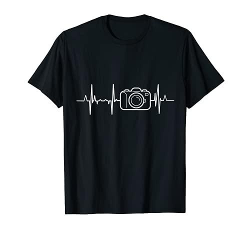 Fotografía latido del corazón cámara de fotos corazón Camiseta