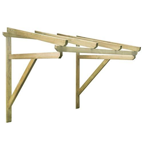 Festnight Türvordach Pultbogenvordach Überdachung Haustür Überdachung Pultvordach 150×100×160 cm Kiefer Massivholz