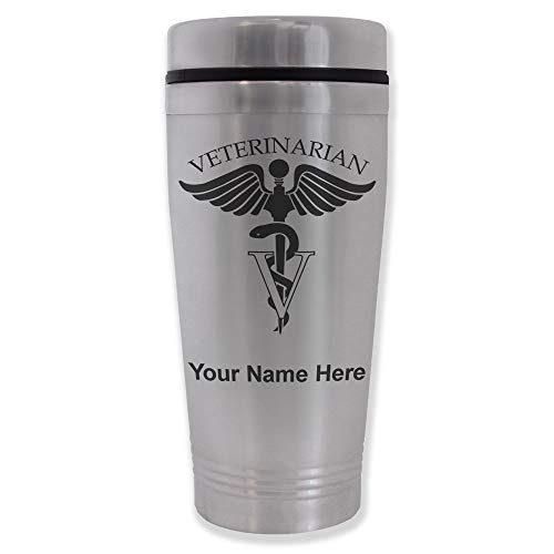 Commuter Travel Mug, Veterinarian, Personalized Engraving Included