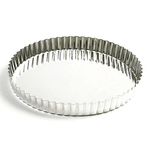 Norpro 9.5 Inch Quiche Tart Pan with Removable Base, Silver