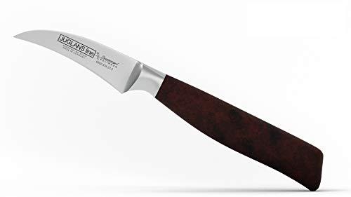 Burgvogel Solingen Juglans Line Tourniermesser, geschmiedete Klinge 7 cm, rostfreier Edelstahl, kleines Schälmesser, Walnussholz,hochwertig, deutsches scharfes Messer