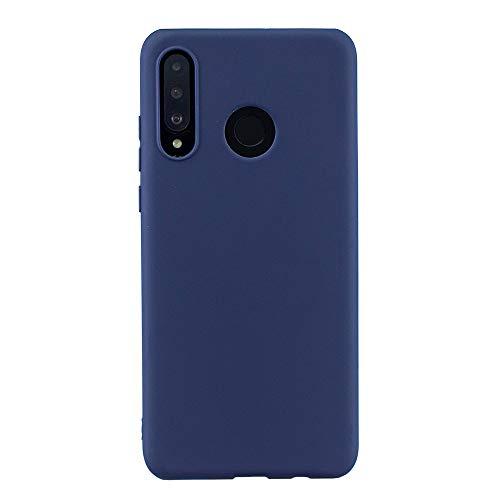 Capa para Huawei P30 Lite, YINCANG ultrafina fosca flexível TPU silicone gel borracha à prova de choque capa macia para Huawei P30 Lite/Nova 4e 6 polegadas azul marinho