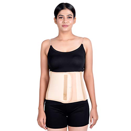 Wonder Care Post pregnancy abdominal belt for women after delivery tummy reduction trimmer kamar belt abdomen compression support binder for women and men (Medium) (Beige)