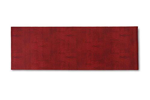 Homelife Alfombra Vinílica de Cocina Lavable y Antideslizante Alfombra Rectangular de PVC Antimanchas, Interior y Exterior | Alfombra Pasillera Roja (52x240 cm)