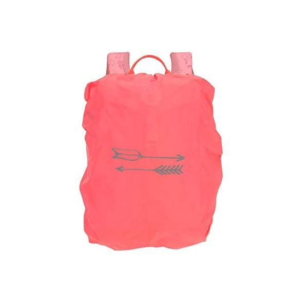 LÄSSIG Adventure Outdoor Mochila de senderismo para niños Mochila para niños a partir de 3 años, 32 cm, 9 L, rosa : Extras de peaje: una funda para lluvia integrada con cierre, una almohadilla de asiento con aislamiento térmico, así como lazos elásticos y lazos ajustables en el exterior para la chaqueta o el equipo al aire libre; además, la mochila para niños tiene una etiqueta con nombre, mosquetón y reflectores Cómodo: la correa para el pecho, la espalda acolchada y las correas para los hombros ajustables en altura y acolchadas aseguran un ajuste bueno y cómodo de la mochila para niños con una capacidad de 9 litros; al mismo tiempo, la mochila es particularmente ligera y robusta Buena división: con el gran compartimento principal y la clara división interior de la mochila, es un juego de niños crear orden