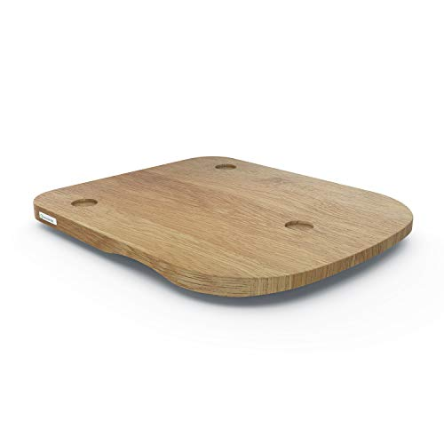 ThermoSlider® H V2 Plus | Gleitbrett aus Holz Eiche für Thermomix TM6 & TM5 | Massivholz aus nachhaltiger deutscher Forstwirtschaft | Made in Germany