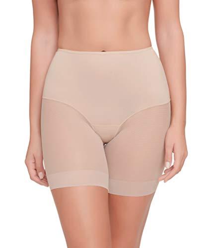 Pantalon Faja Anti-rozadura Invisible y Super Ligero. Tejido Elastico y Super Suave. (Beige, L)