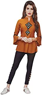 TM&W-Women's Rayon Solid Kurta with Palazzo Set(Image as per Colour)