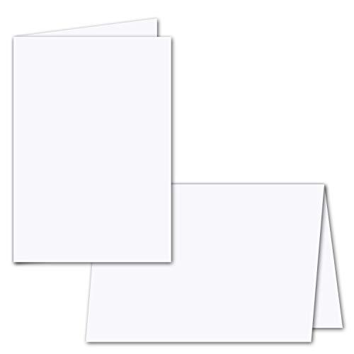 50x faltbares Einlege-Papier für B6 Doppelkarten - hochweiß - 168 x 224 mm (112 x 168 mm gefaltet) - ideal zum Bedrucken mit Tinte und Laser - hochwertig mattes Papier von GUSTAV NEUSER