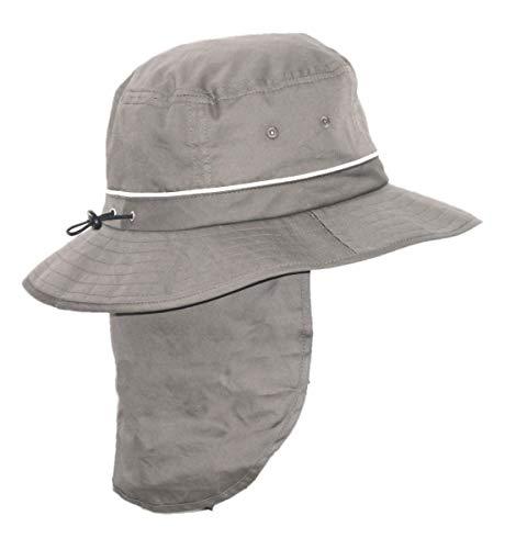 Rigon Headwear pour Femme Homme à Protection UV pour Compartiment de Chapeau Taille Unique Gris