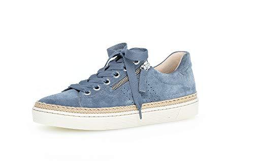 Gabor Damen Low Top Sneaker, Frauen Halbschuhe,lose Einlage,Moderate Mehrweite (G),Ladies,Women's,Woman,schnürschuhe,Nautic (Jute),40 EU / 6.5 UK