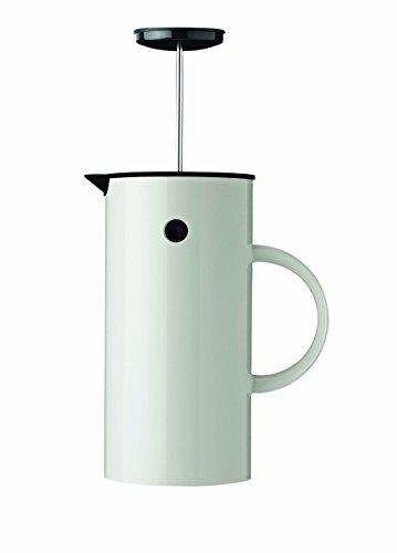 Stelton EM 1 l. -Weiss Pressfilterkanne, Kunststoff, 14 x 14 x 22 cm
