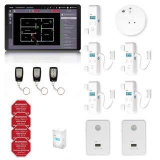 AlarmTab® - Alarmanlagen Standard-Set für kleine bis mittlere Häuser (Tablet Schwarz)