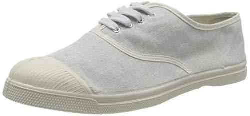 Bensimon Damen Tennis Shiny Linen Femme Sneaker, Grau (Gris Perle 0805), 39 EU