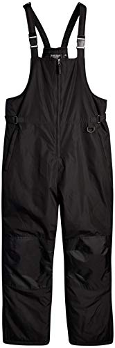Bass Creek Outfitters Men's Snow Bib - Insulated Overall Ski Pants, Size Large, Black