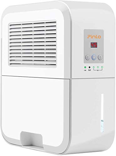 Best Deals! pinlo Dehumidifier Electric Mini Dehumidifiers for Home Basements Bathroom Bedroom Close...