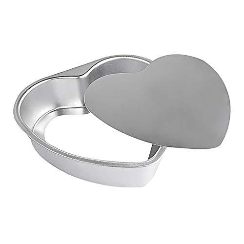 Ldawy Tortiera, tortiera a forma di cuore, tortiera in alluminio anodizzato con base rimovibile per la cottura di torte nuziali/compleanni/natalizie(10)