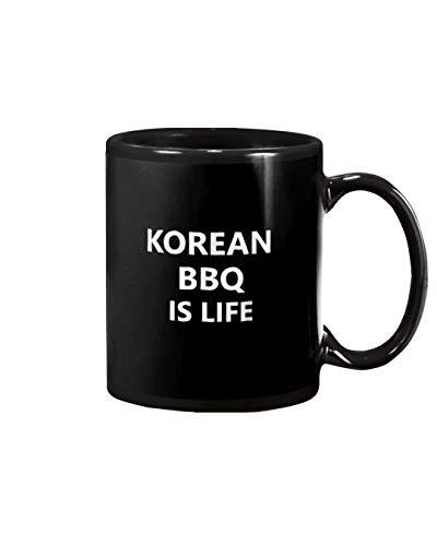Koreansk BBQ matälskare mat asiatisk mat för kaffe, soppa, te, mjölk, latte. Koppar mugg perfekt för vänner, fans, fru, make, pappa, mamma. Muggar 325 ml vit och svart.