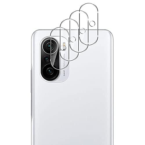 Aerku Cámara Trasera Lente Protector de Pantalla para Xiaomi Mi 11i / Poco F3 [4 Piezas],[Cobertura Completa] HD Sin Burbujas Cristal Templado Cámara Protector[Transparente]
