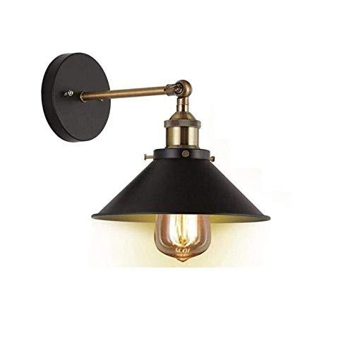 Yangmanini Aplique De Pared Industrial Vintage, Lámpara De Pared Ajustable De Loft Retro, Lámpara De Pared Interior De Metal Negro E27