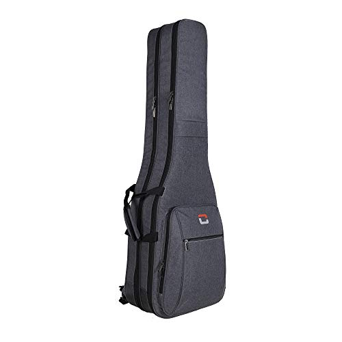 Crossrock Metro Series Gig Bag Fits 2 Precision or Jazz Style Bass Guitars (CRDG205DBGR)