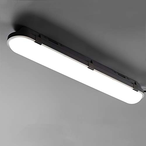LED Feuchtraumleuchte 60cm 20W für Garage Keller Feuchtraum Büro Warenhaus, LED Wannenleuchte Feuchtraumlampe Röhre im Reihenschaltung, Wasserfest IP65 Neutralweiß 4000K-4500K 1Stück