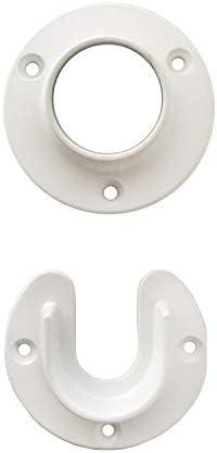 Design House White 206003 Heavy Duty Metal Closet Pole Socket product image