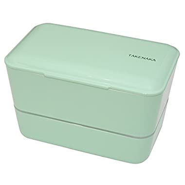 Expanded Double Bento Box by Takenaka (Green Peppermint)