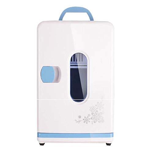 12l Mini Kühlschrank Kühler Wärmer, Temperatur Einstellbar Elektrische Kleinen Kühlschrank Tragbare Gefrierschrank Mit 220 v / 12 v Ac + DC Power Für Home Schlafzimmer Büro Auto Reise