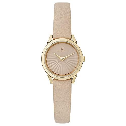 Pierre Cardin CPI.2508 - Reloj de pulsera para mujer (cuarzo, acero inoxidable, correa de piel)