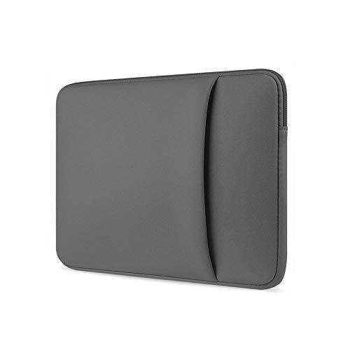 Caodong Funda para ordenador portátil de 11, 12, 13, 14, 15, 15, 6 pulgadas, funda blanda para MacBook Air Pro Retina Ultrabook 12, 9, tableta, gris