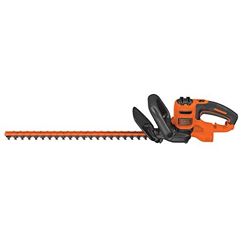 BLACK+DECKER Hedge Trimmer, 22-Inch (BEHT350FF), Orange,