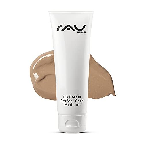 RAU Cosmetics BB Cream Perfect Care Medium für trockene, unreine, normale Haut 75 ml - Make-Up, Pflege, UV-Schutz - Getönte Tagescreme mit Zink, Vitamin E, Mandelöl,...