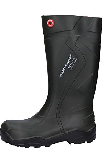 Dunlop C762933 S5 PUROFORT+ Unisex-Erwachsene Langschaft Gummistiefel, Dunkelgrün/Schwarz, 43 EU
