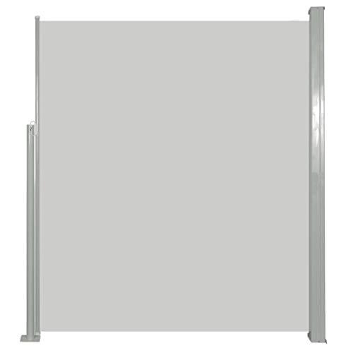 vidaXL Seitenmarkise 160x500cm Creme Sichtschutz Windschutz Sonnenschutz Stahlrahmen 100% Polyestergewebe