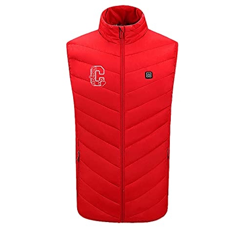 Mimacoo Womens Heating Vest, Electric Lightweight Heated Vest Skating for Heated Jacket Thermal Underwear Battery Red