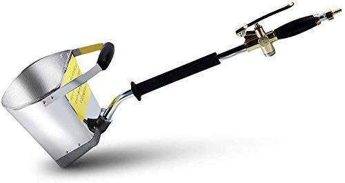 Kacsoo Pistola pulverizadora de mortero de cemento, con tapa 4 Jet Hopper de yeso de hormigón, tolva de pala de estuco de alta eficiencia para paredes y techos