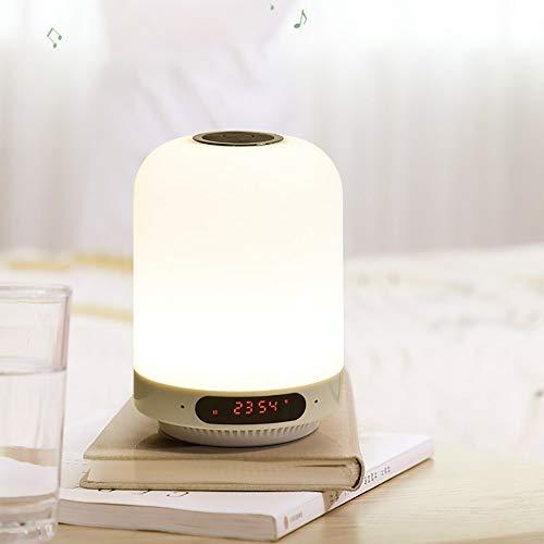 The only good quality Decoracion Hora de la Alarma LED Sencilla táctil de Bluetooth de detección Colorido pc Sonido + PP + lámpara de ABS Villa