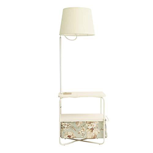 Vloer Lamp-Simple Woonkamer Slaapkamer Nachtkastje Vloer Lamp Koffie Tafel Opladen Socket Vloerlamp (Kleur : B)