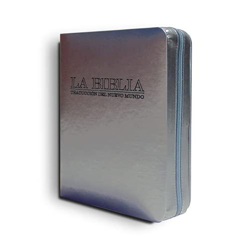Funda para Biblia - Nueva Edición Traducción del Nuevo Mundo - 3 tamaños - Personalizable - con cremallera (Sin Personalizar, Mediano)