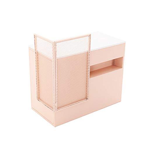 Lzcaure Mostradores de Recepción Ahorro de Espacio nórdico Paint Paint Hierro nórdica Hierro Recepción con gaveta de Almacenamiento Tienda de Ropa Contador (Color : Pink, Size : 100x50x80cm)
