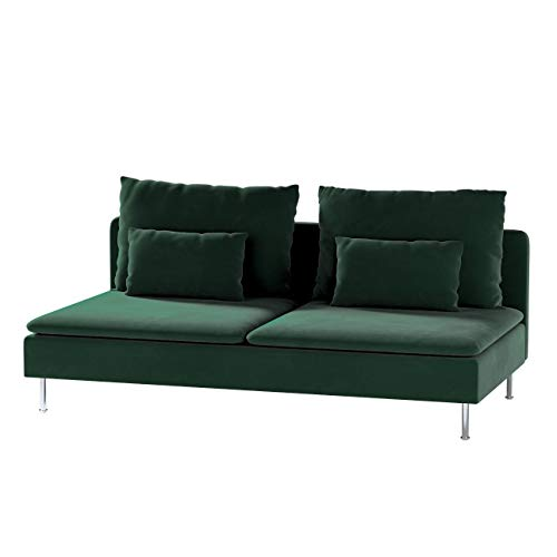 Dekoria Söderhamn Bezug für Sitzelement 3 Husse passend für IKEA Modell Söderhamm dunkelgrün